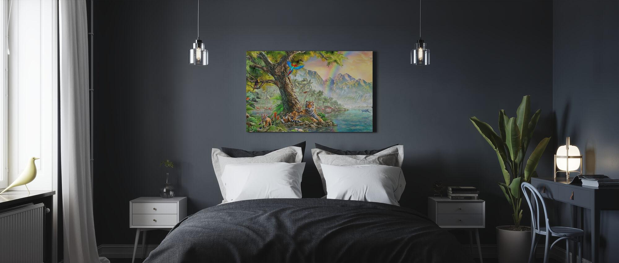 Land en water Utopia IIII - Canvas print - Slaapkamer