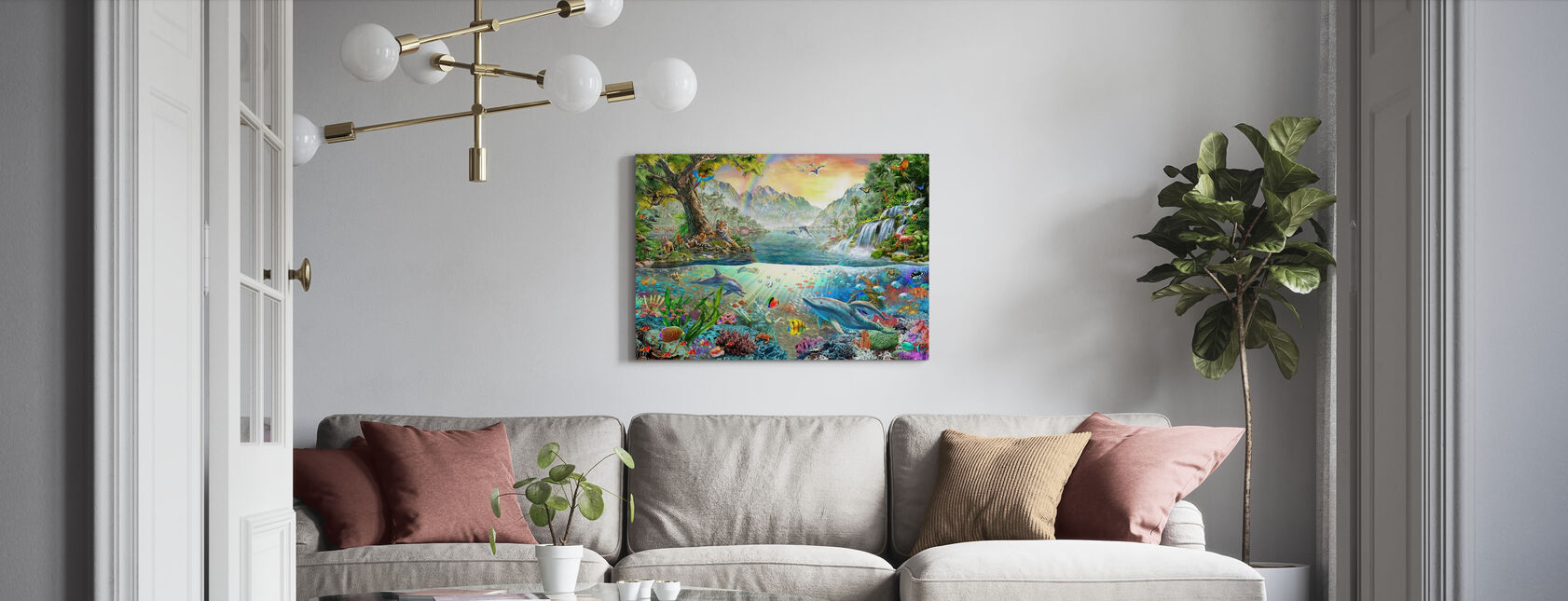 Land and Water Utopia - Canvas print - Living Room