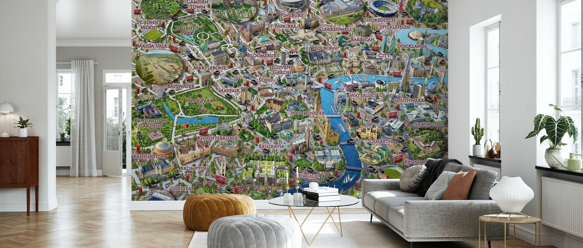 London Landmarks - Wallpaper - Living Room