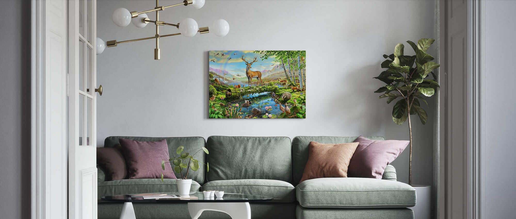 Wildlife Splendor UK - Canvas print - Living Room