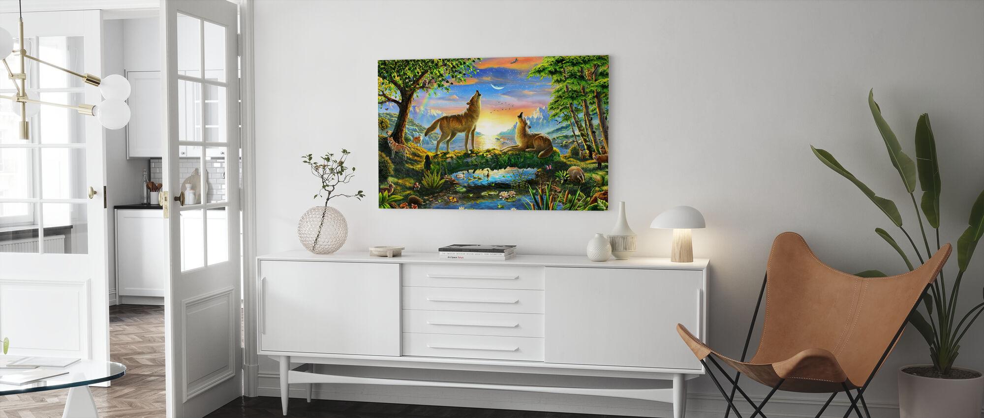 Wolf Harmony - Canvas print - Living Room
