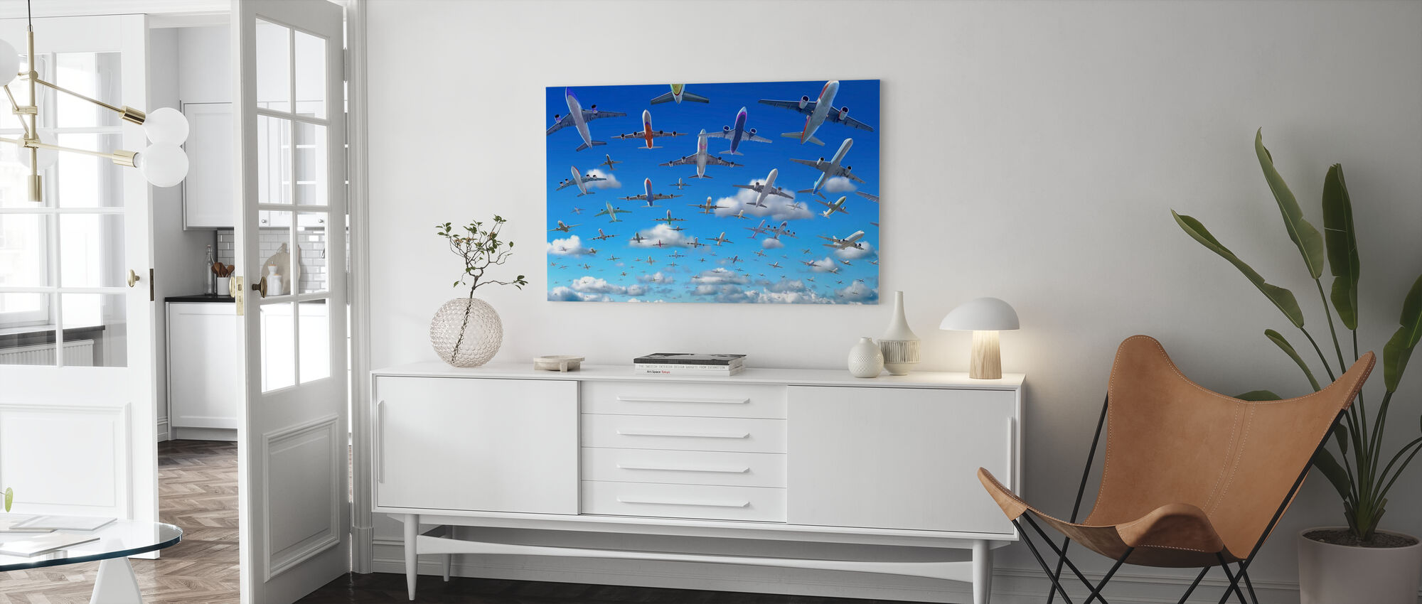 Crowded Sky - Canvas print - Living Room
