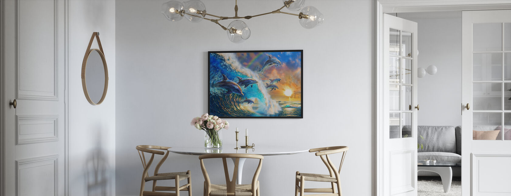Delfiini aalto - Juliste - Keittiö