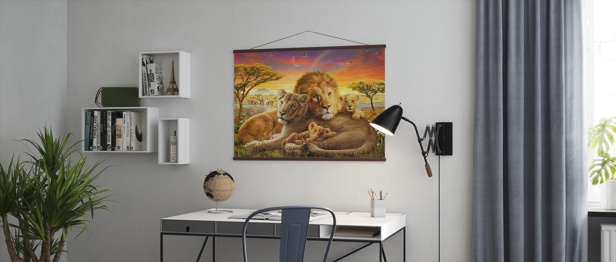 Liefdevolle leeuwen - Poster - Kantoor