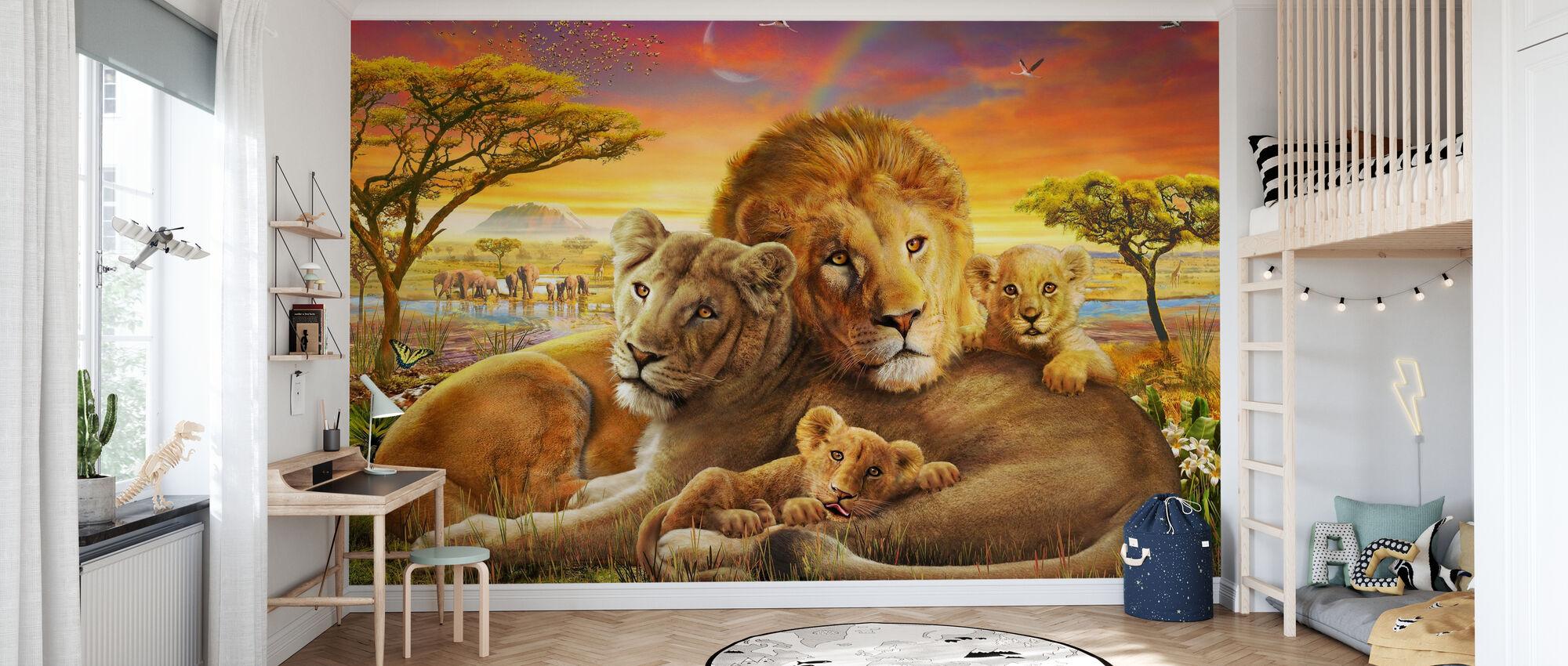Kjærlig løver - Tapet - Barnerom