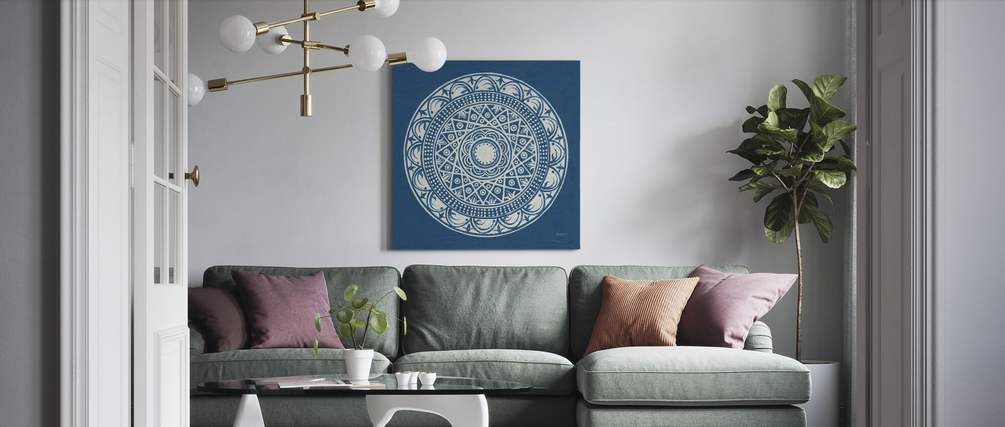 Seville Mandala III - Canvas print - Living Room