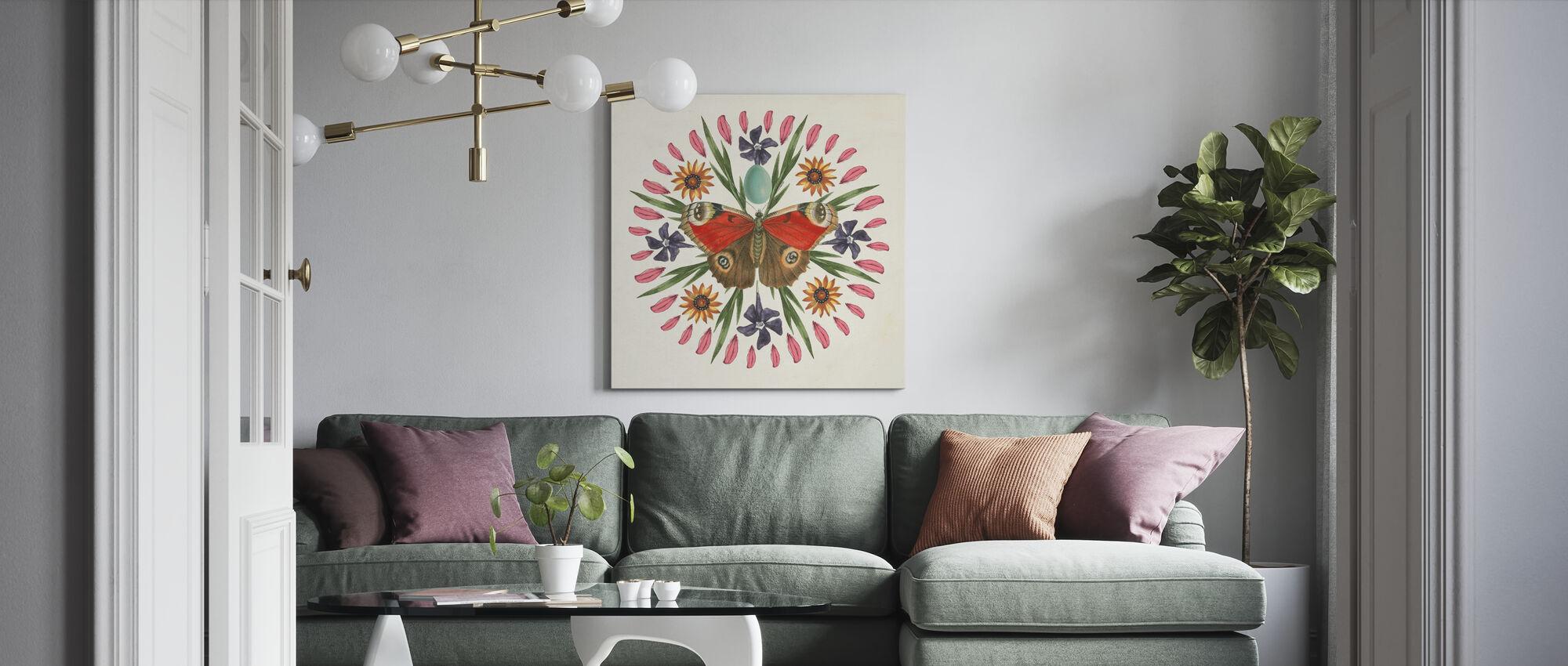 Motyl Mandala - Obraz na płótnie - Pokój dzienny
