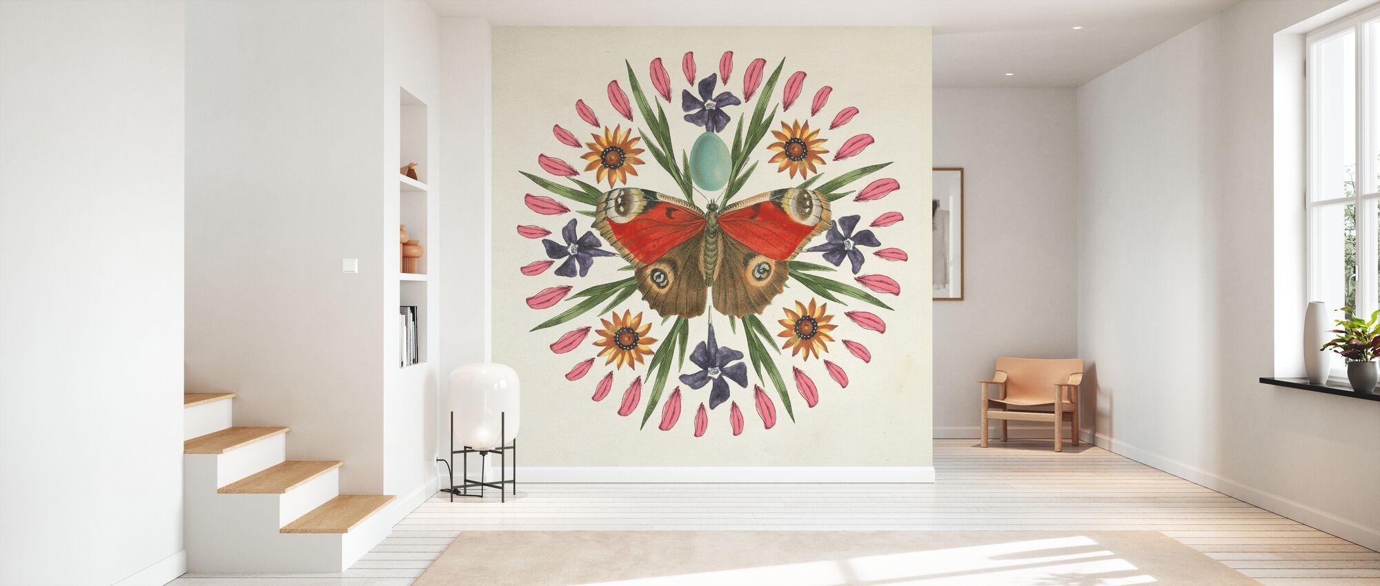 Butterfly Mandala - Tapet - Gang