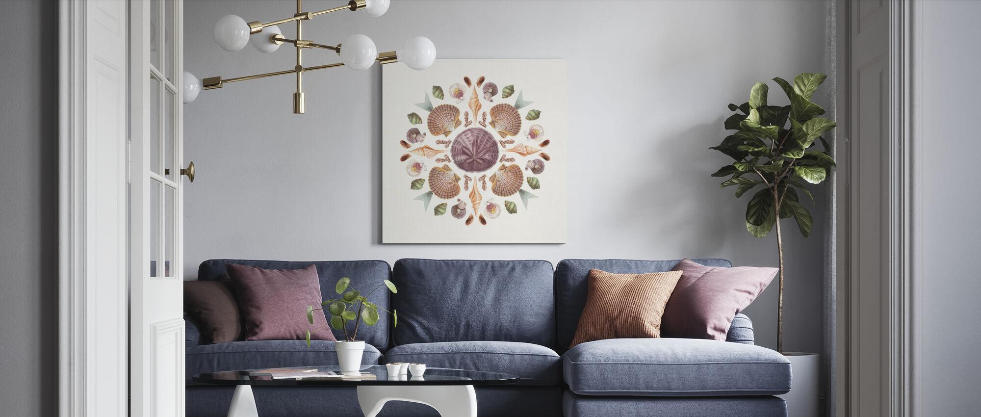 Ocean Mandala - Canvas print - Living Room