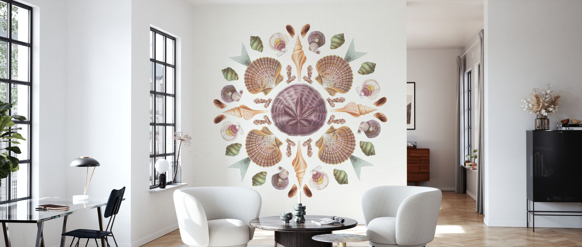 Ocean Mandala - Wallpaper - Living Room