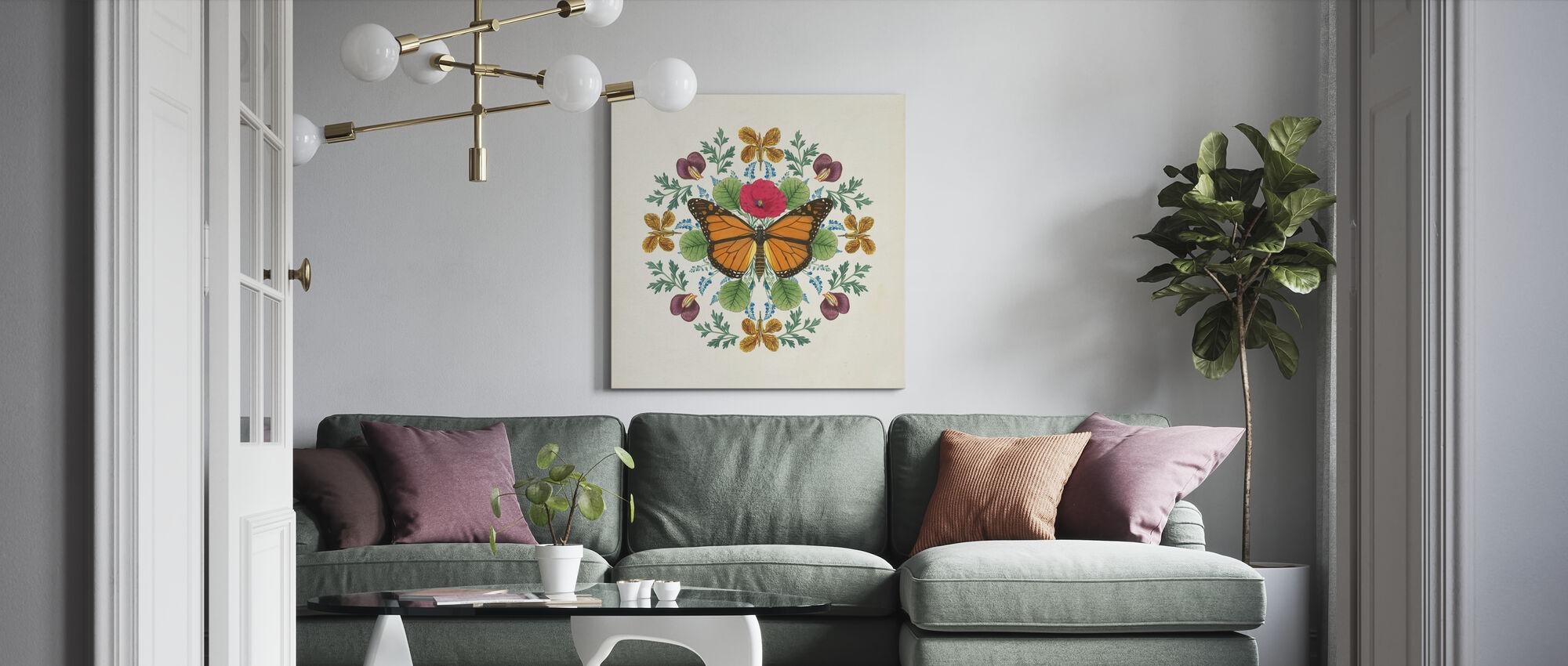 Butterfly Mandala - Canvas print - Living Room