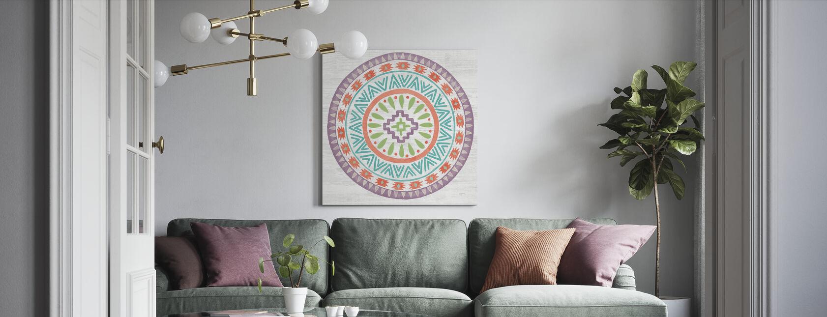 Nydelig Lamas Mandala - Lerretsbilde - Stue