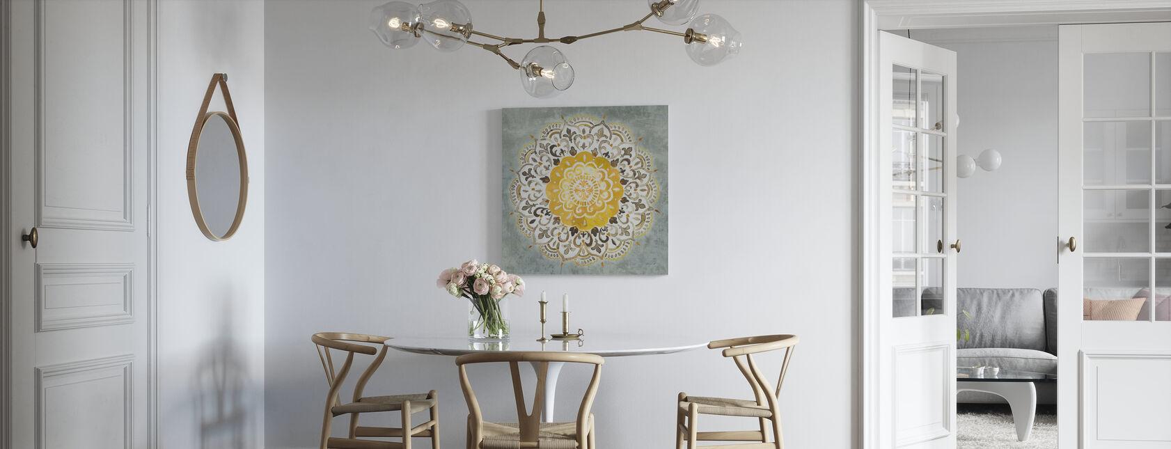 Mandala Delight - Keltainen Harmaa - Canvastaulu - Keittiö