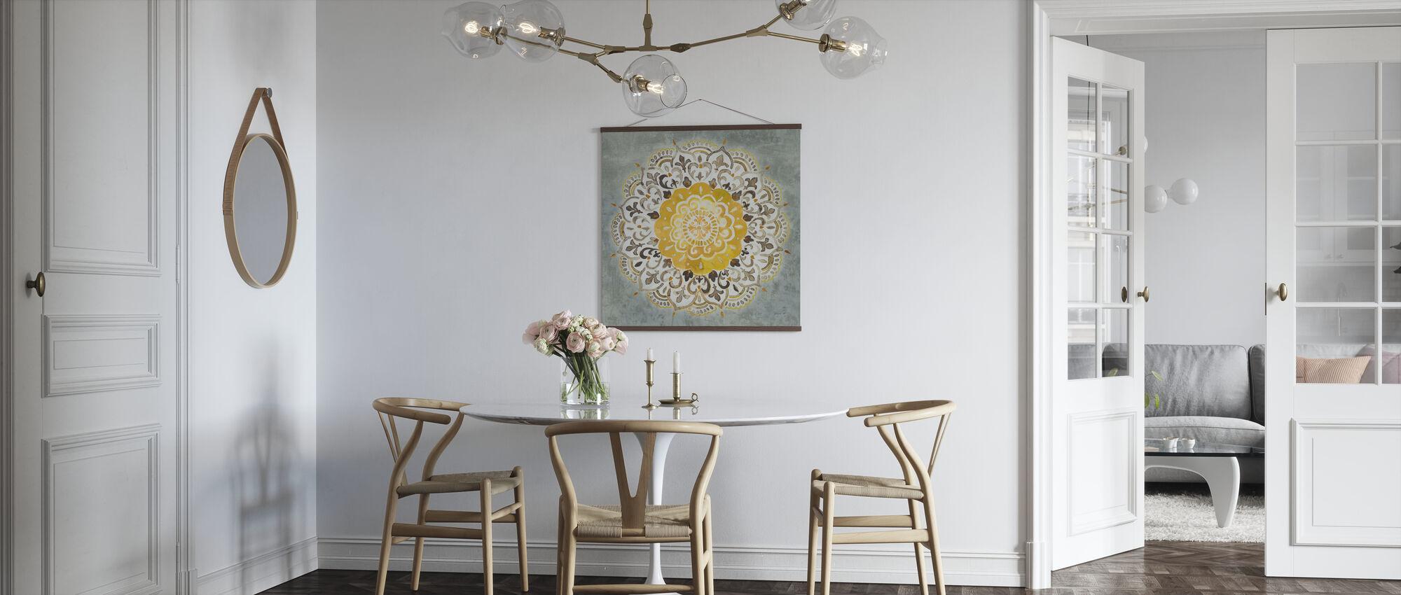 Mandala Delight - Keltainen Harmaa - Juliste - Keittiö