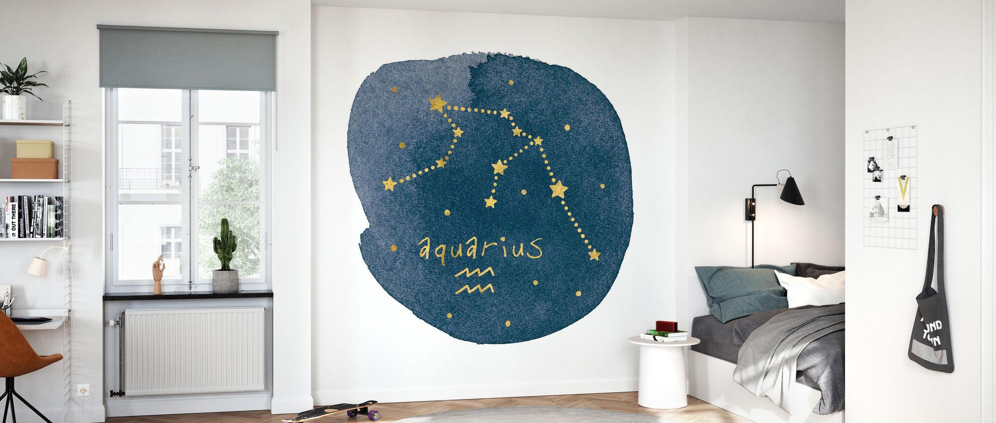 Horoscope Aquarius - Wallpaper - Kids Room