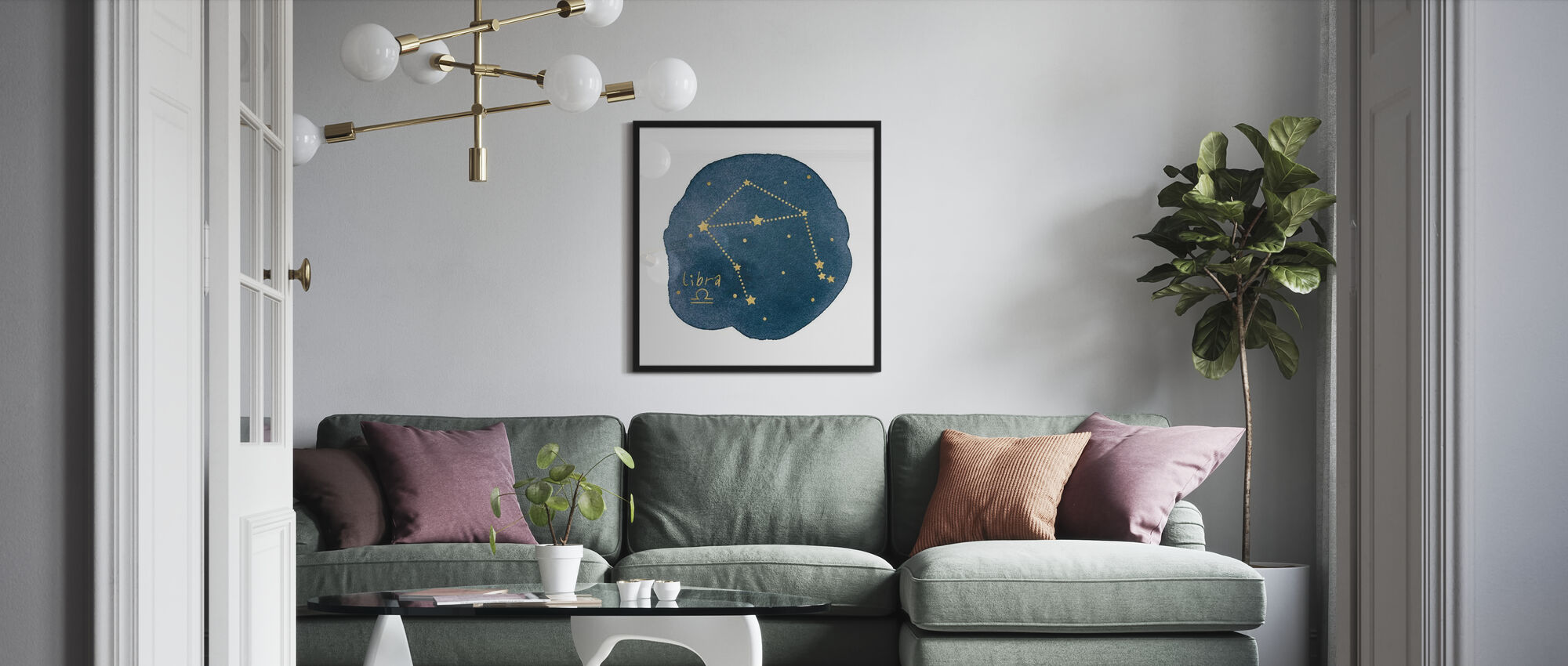 Horoscoop Weegschaal - Ingelijste print - Woonkamer