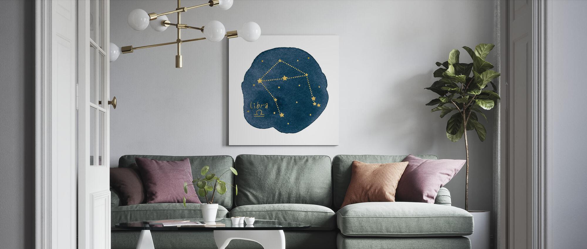 Horoscoop Weegschaal - Canvas print - Woonkamer