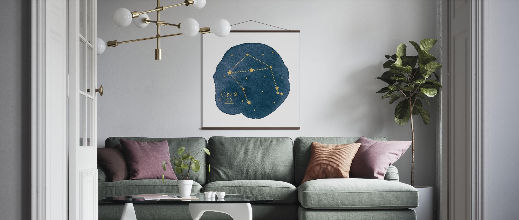 Horoskop Waage - Poster - Wohnzimmer