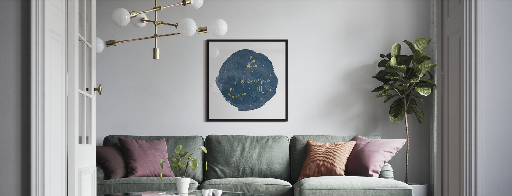Horoskooppi Skorpioni - Kehystetty kuva - Olohuone
