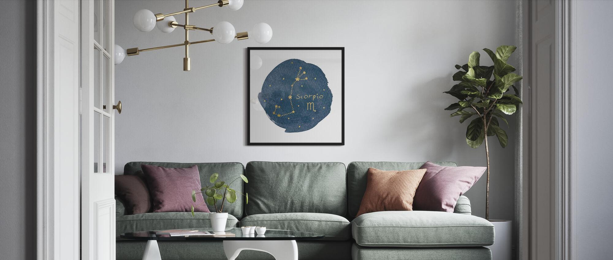 Horoskop Skorpion - Gerahmtes bild - Wohnzimmer
