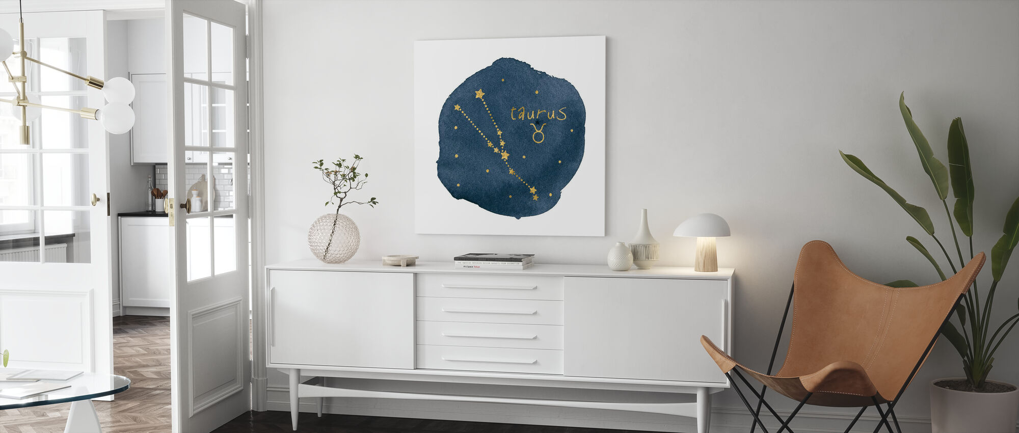 Horoskop Oxen - Canvastavla - Vardagsrum