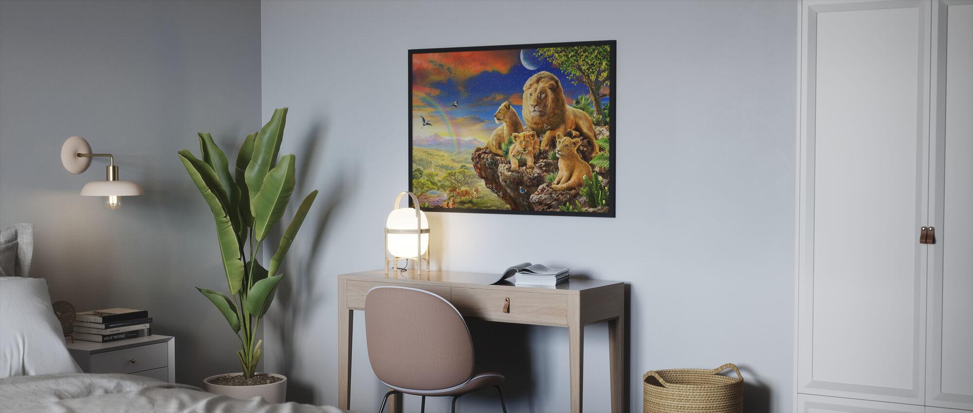 løve stein - Plakat - Soverom