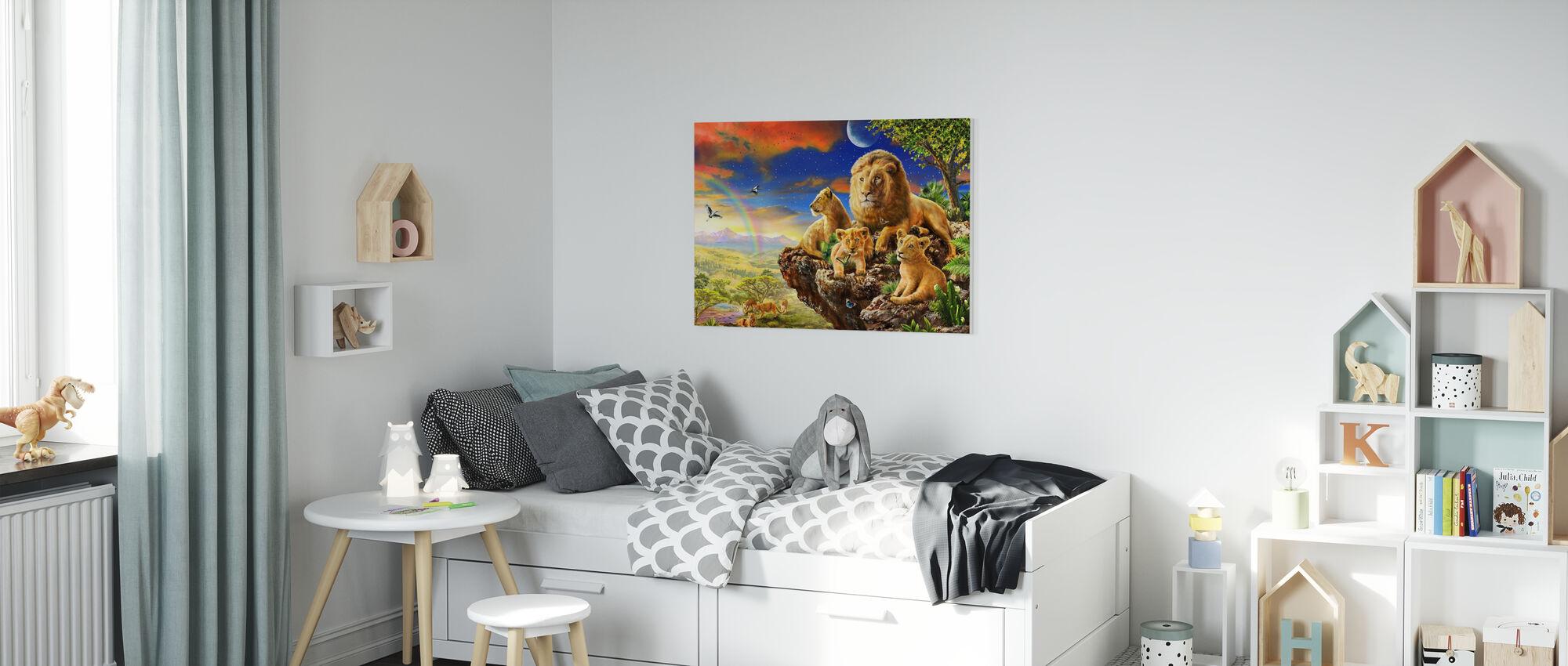 Lion Rock - Canvastavla - Barnrum