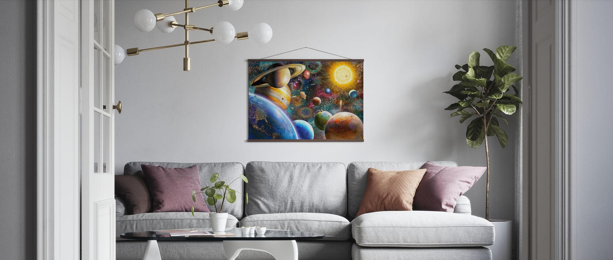 Planeetat avaruudessa - Juliste - Olohuone