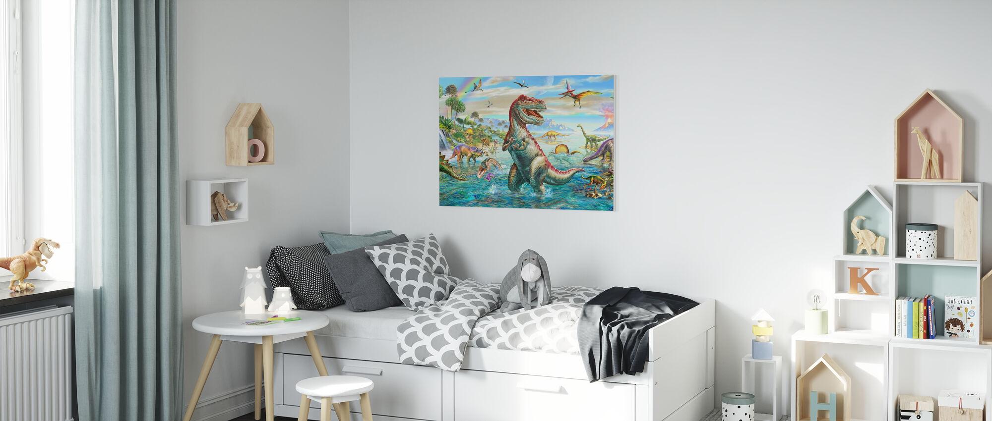 Prehistoric Panorama - Canvas print - Kids Room
