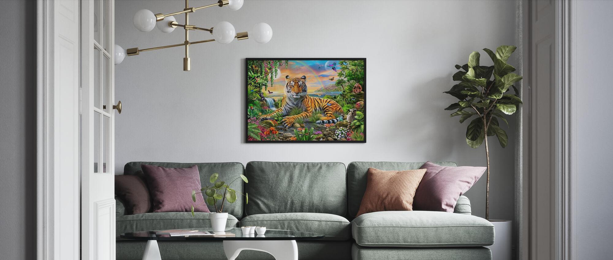 Koning van de jungle - Ingelijste print - Woonkamer
