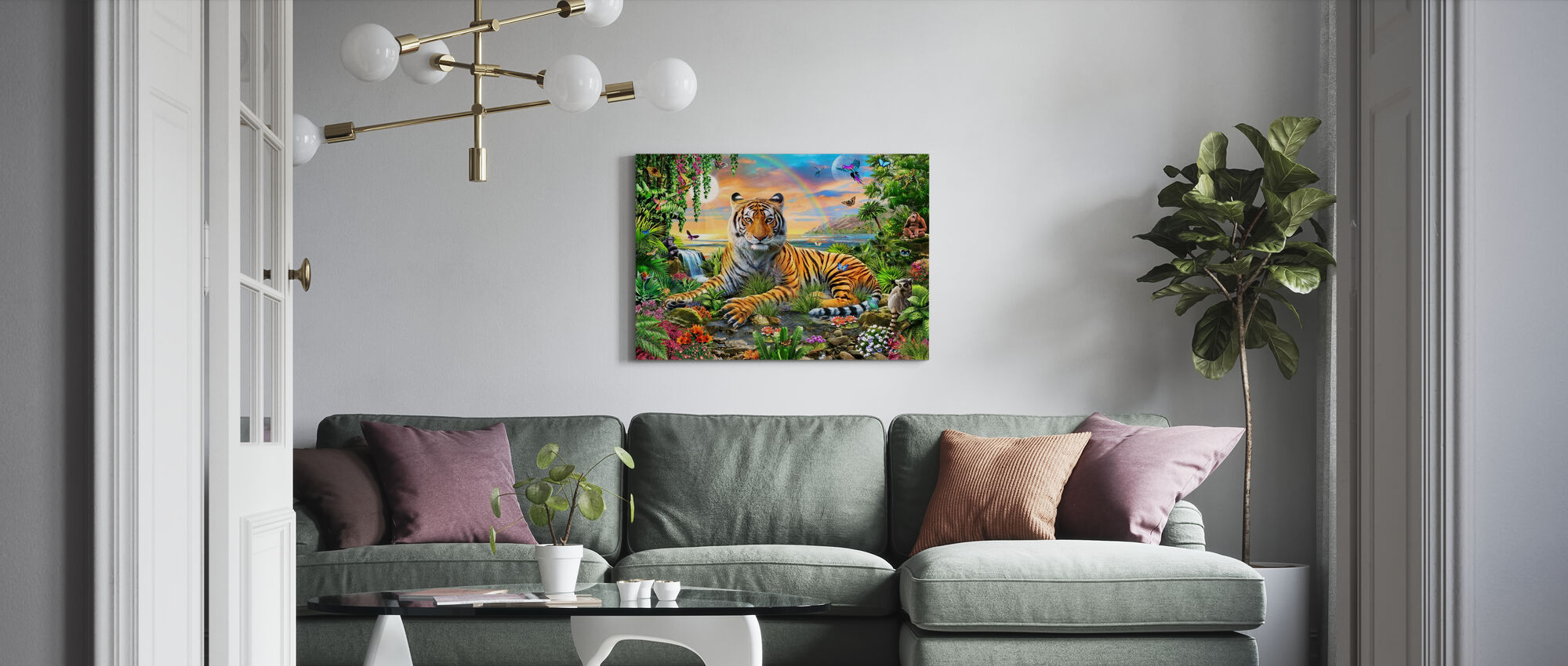 Re della giungla - Stampa su tela - Salotto