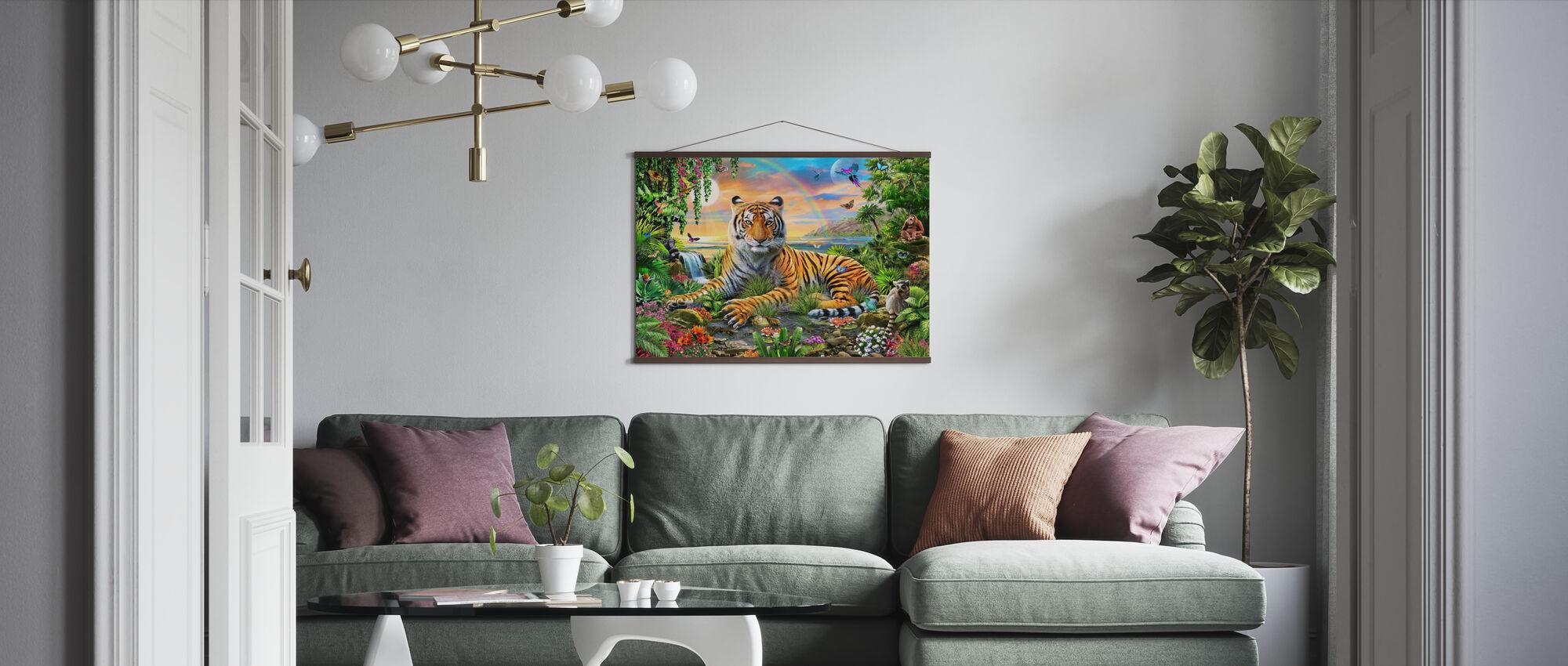 Koning van de jungle - Poster - Woonkamer