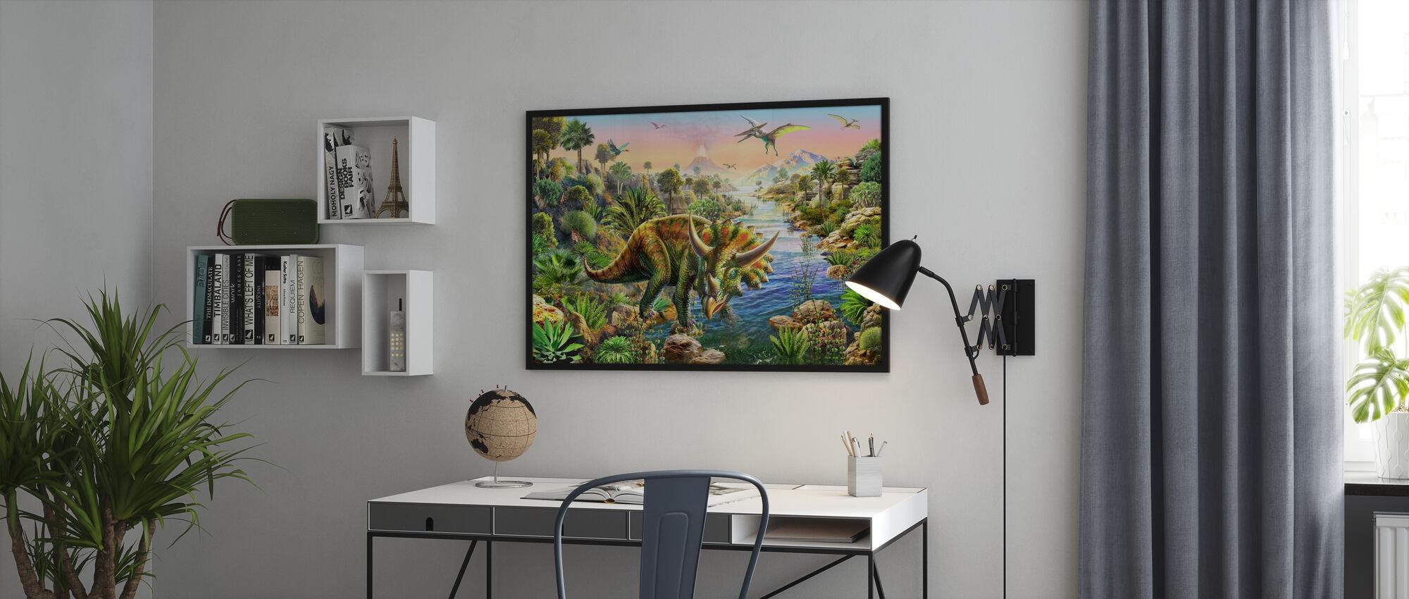 Triceratopo - Stampa incorniciata - Uffici