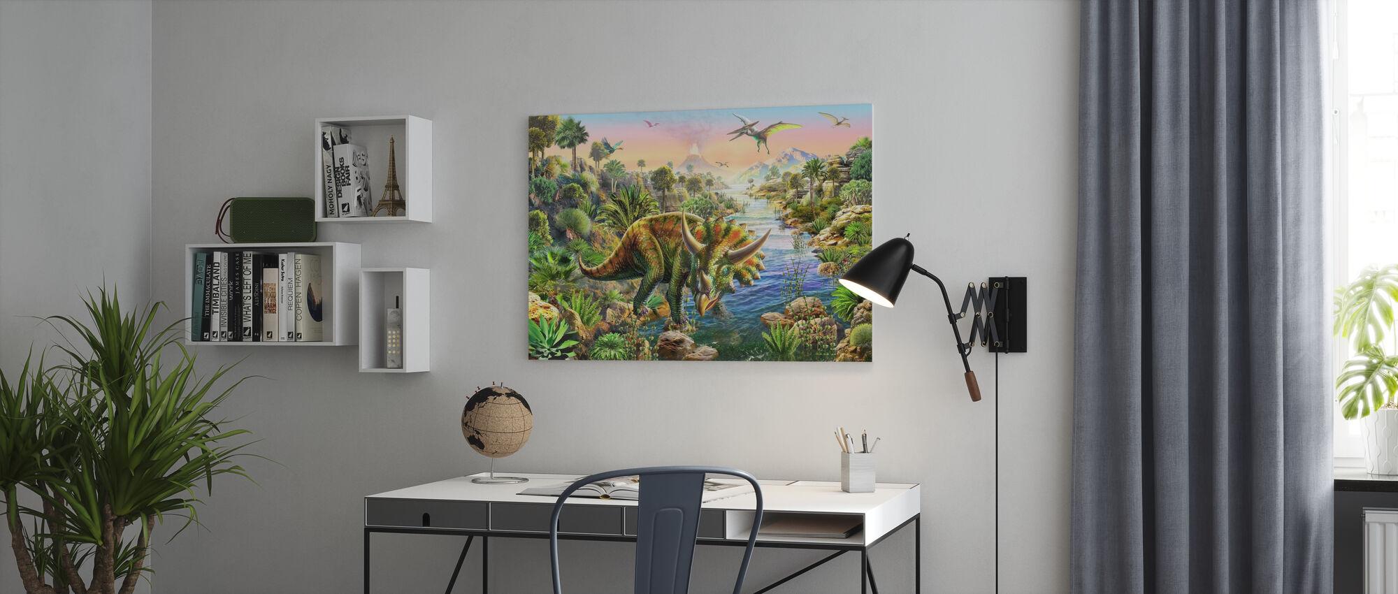 Triceratops - Lerretsbilde - Kontor