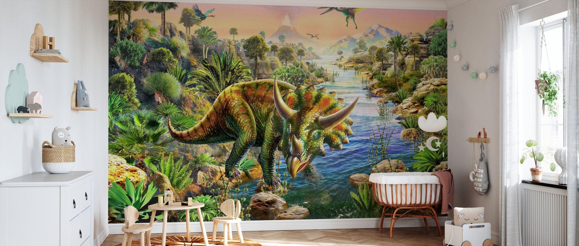 Triceratops - Tapet - Babyrom