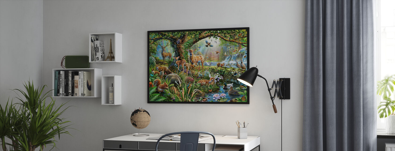 Woodland Creatures - Framed print - Office
