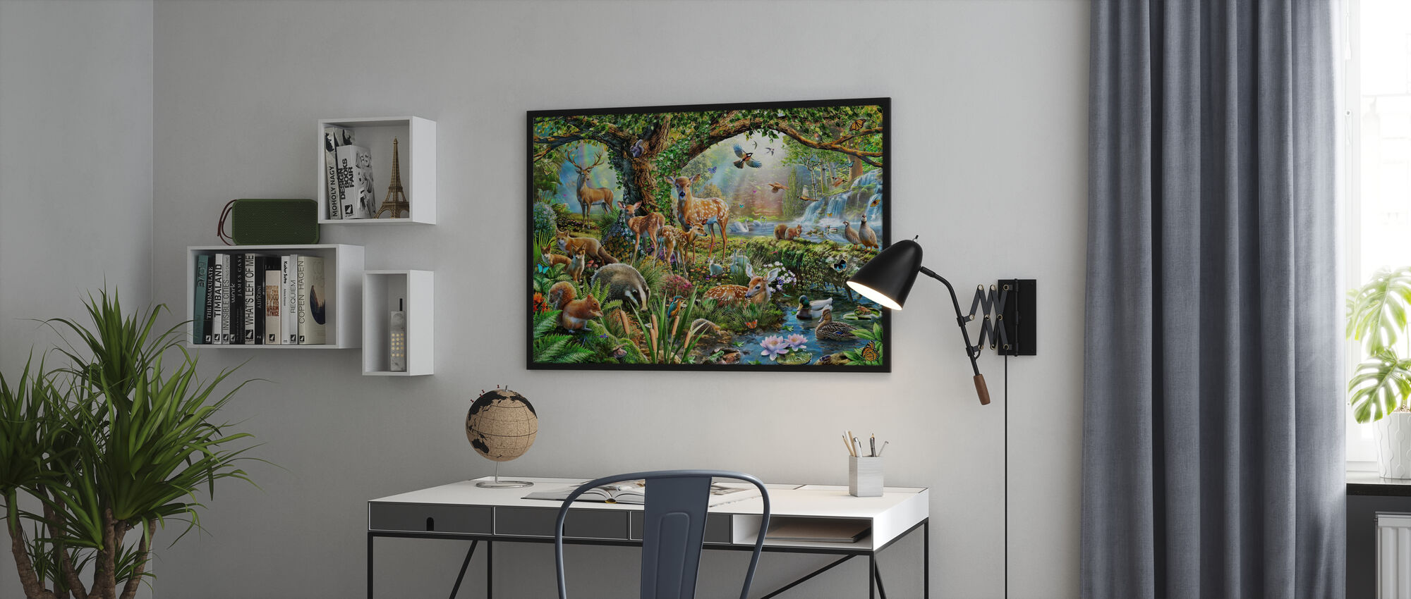 Bos Wezens - Ingelijste print - Kantoor