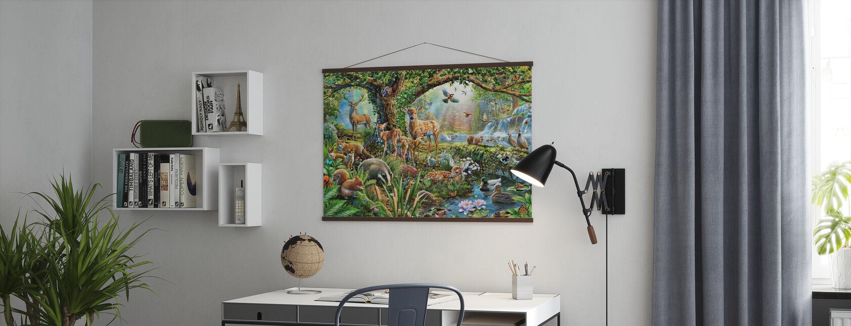 Skogsmark varelser - Poster - Kontor