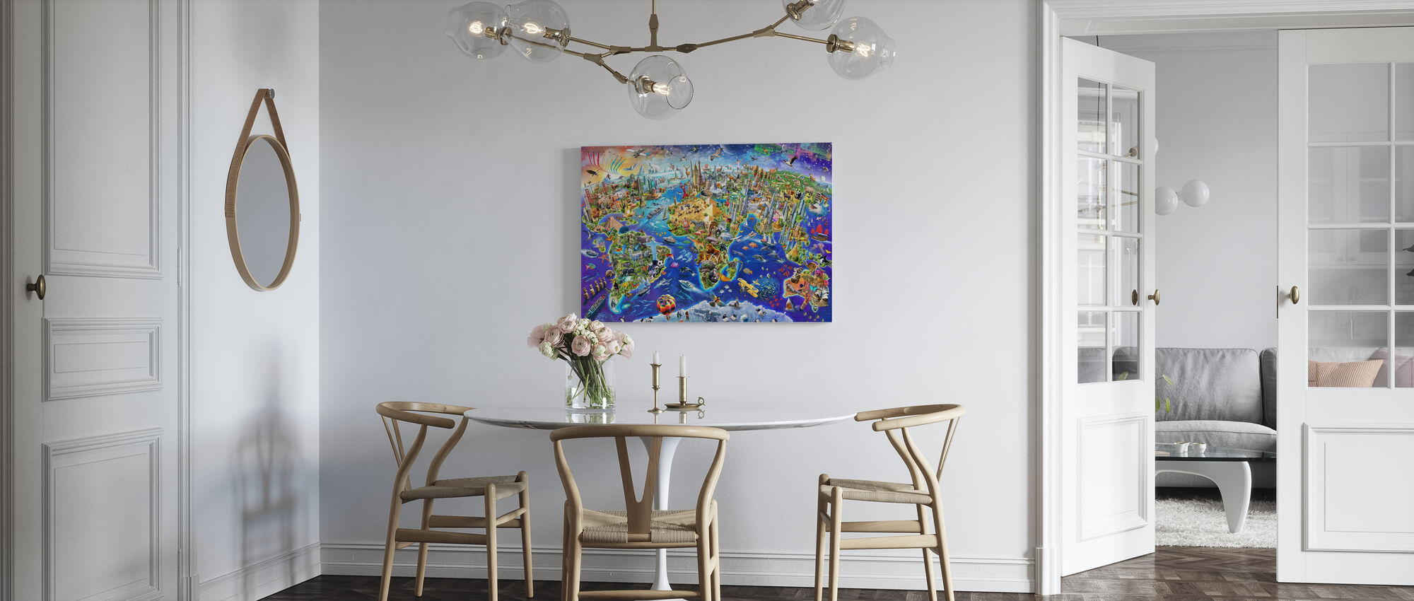 Crazy World - Canvas print - Kitchen
