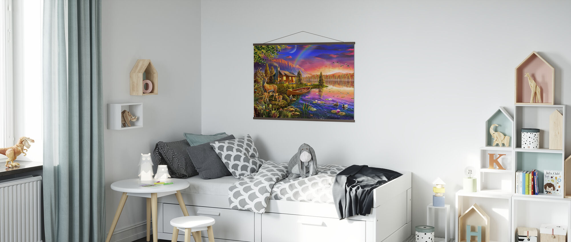 Lakeside Cabin - Poster - Kids Room