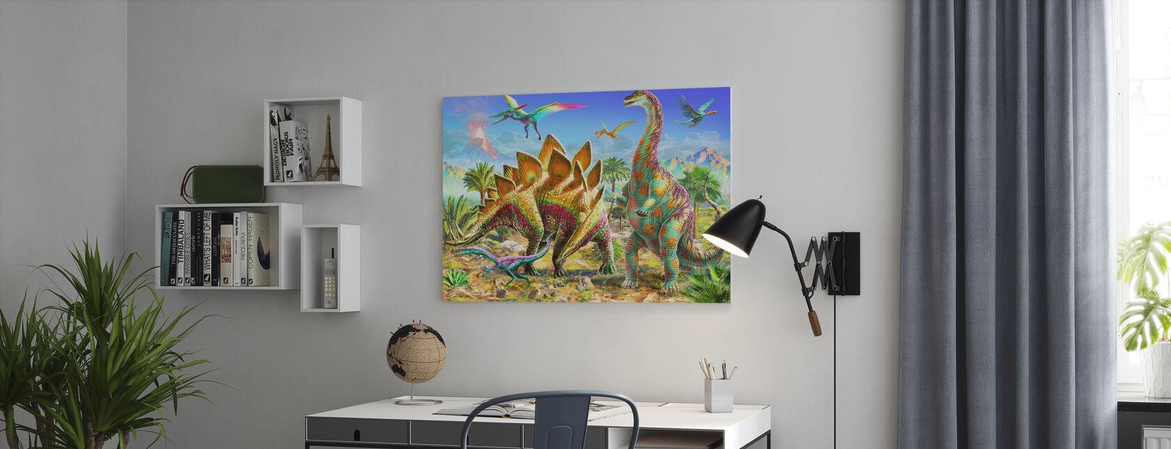 Dino dla dzieci - Obraz na płótnie - Biuro