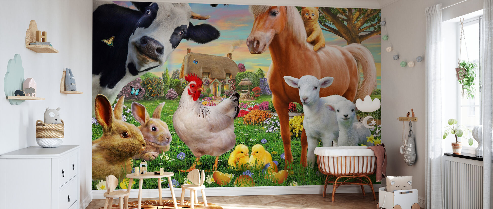 Farm Animals for kids - Wallpaper - Nursery
