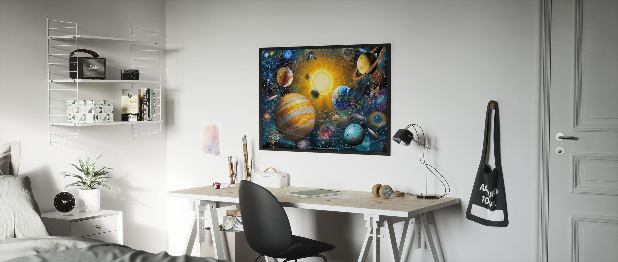Système solaire annelé - Affiche - Chambre des enfants