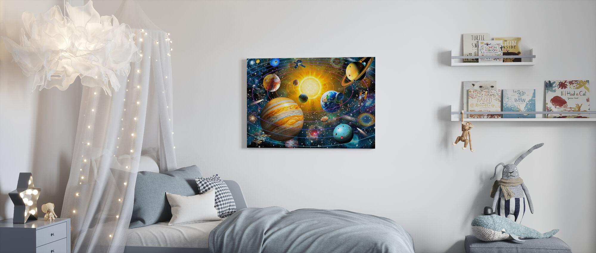 Ringed Solar System - Canvas print - Kids Room