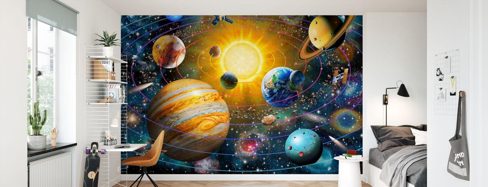 Sistema Solare ad Anello - Carta da parati - Camera dei bambini