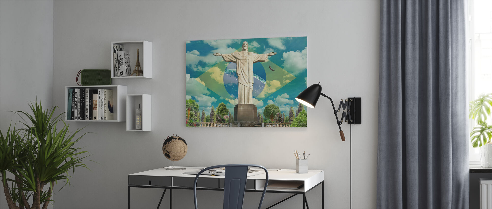 Jesus in Rio - Canvas print - Office