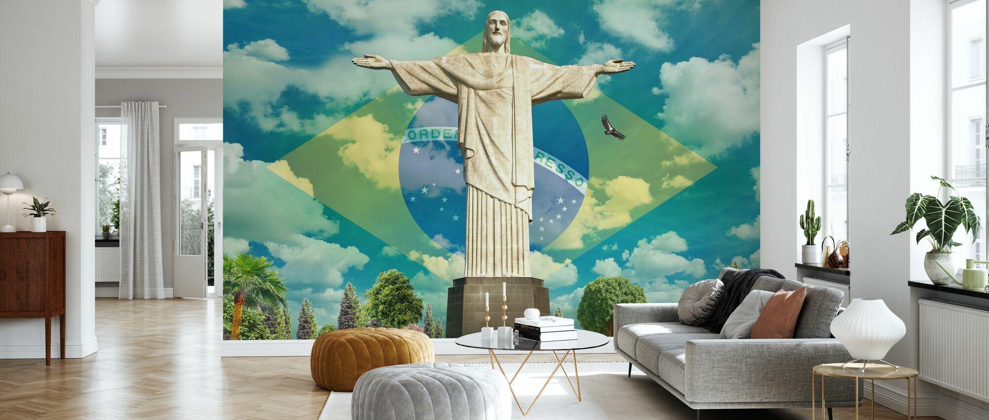 Jesus in Rio - Wallpaper - Living Room
