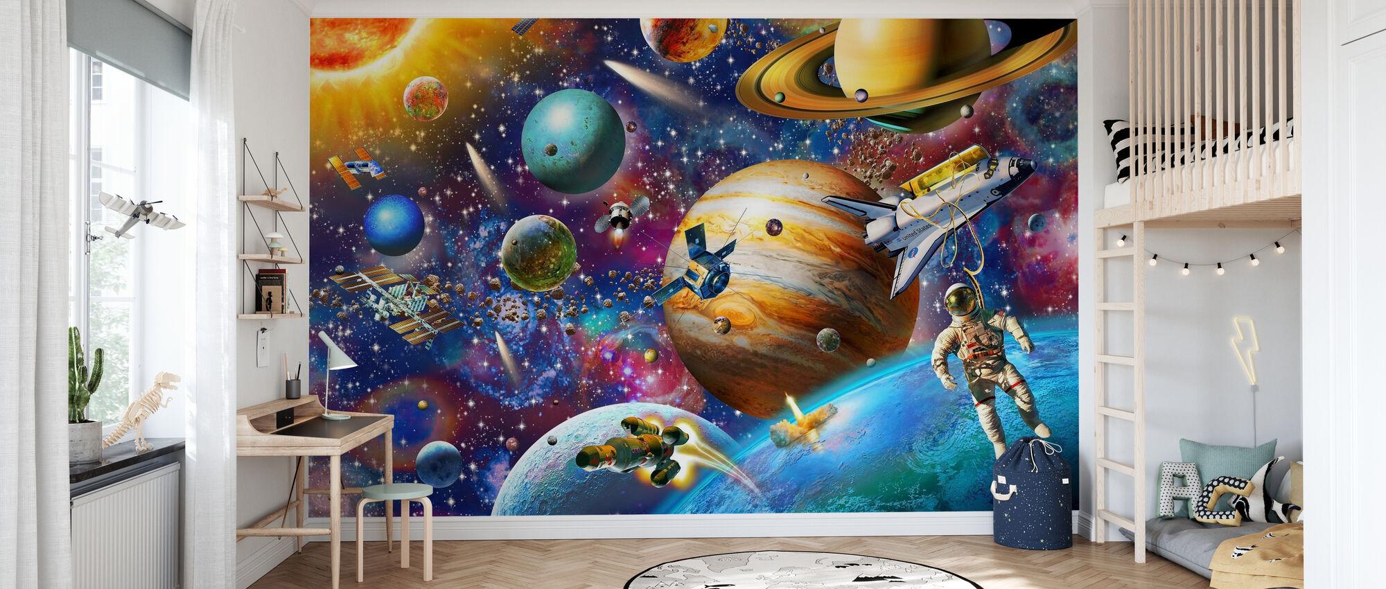 Solar System Odyssey - Wallpaper - Kids Room
