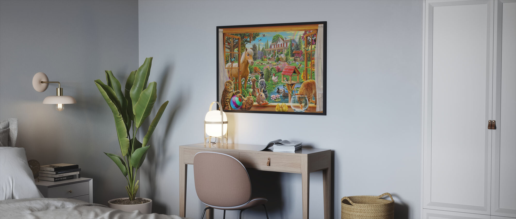 Djur i trädgården - Poster - Sovrum