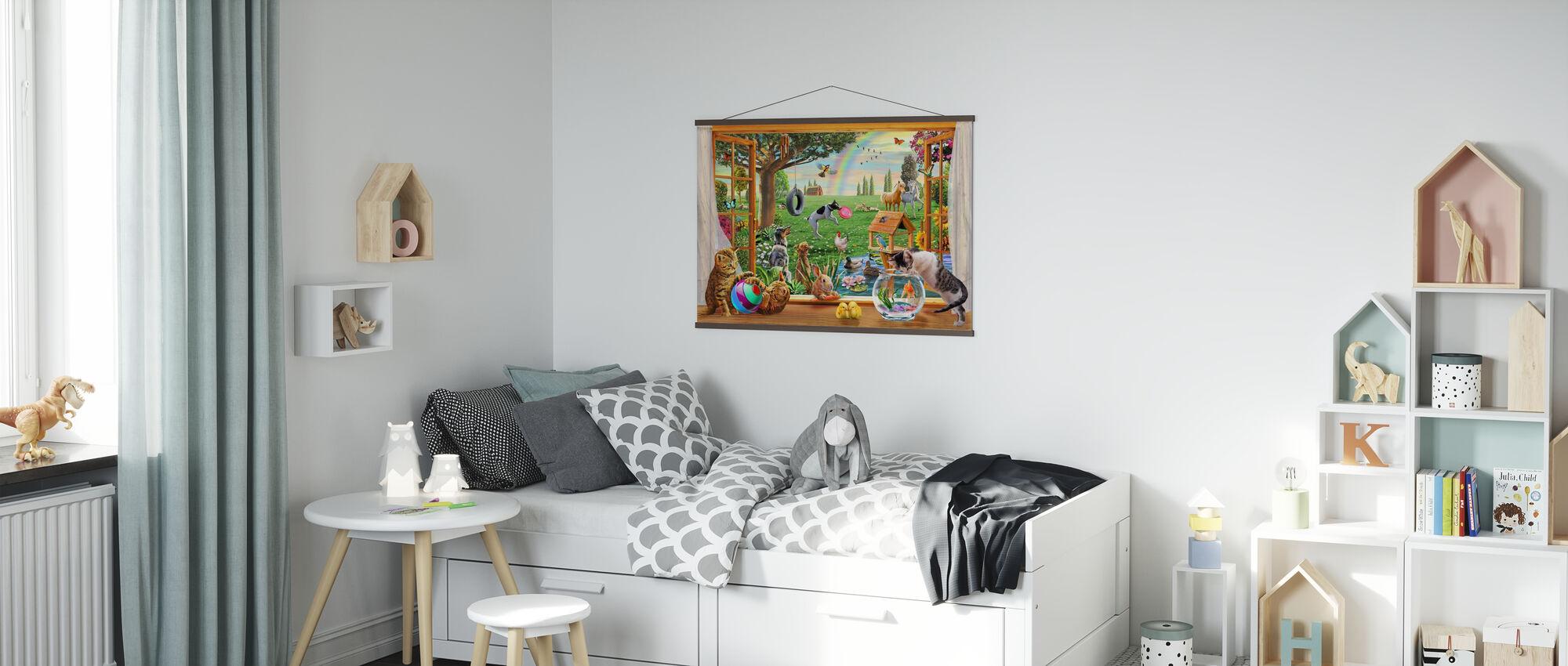 Husdjur i trädgården - Poster - Barnrum